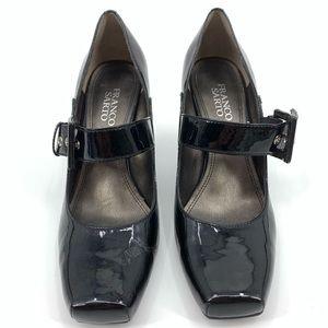 Franco Sarto heels Mary Jane patent leather pumps